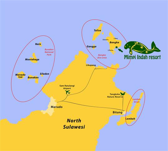Map of North Sulawesi