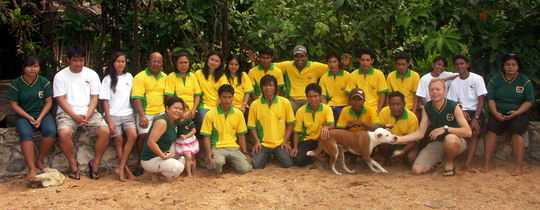 Staff of Mimpi Indah resort